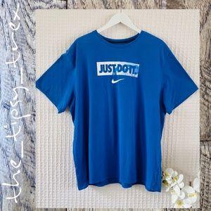 Nike DriFit Blue Just Do It Tshirt 3XL